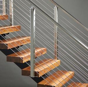 Rod Railing on FLIGHT floating stairs
