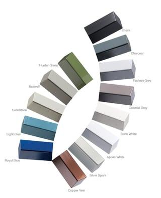 Viewrail powder coat color options