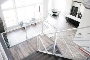 viewrail white powder coat interior stairs