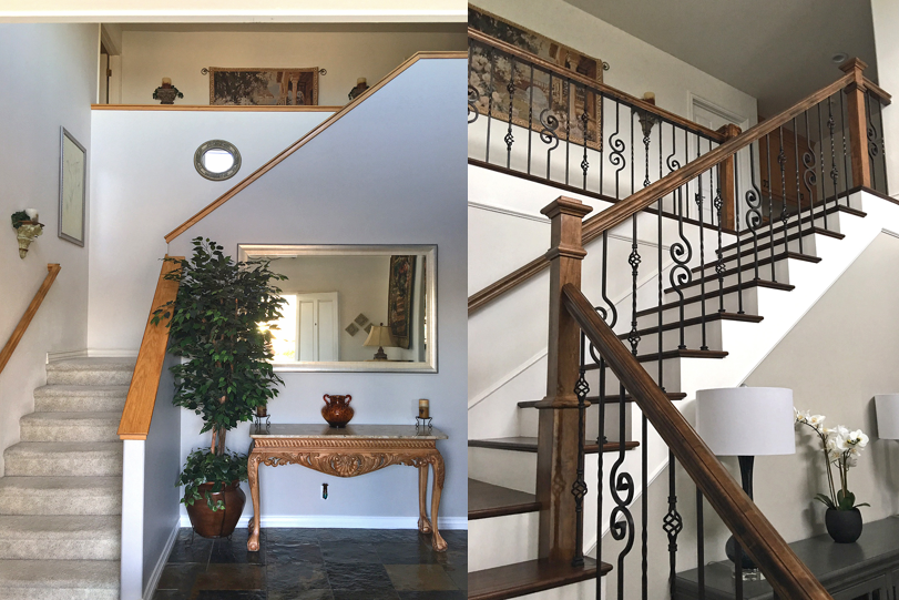 StairSuppliesTM Iron Balusters Before and After Project 242